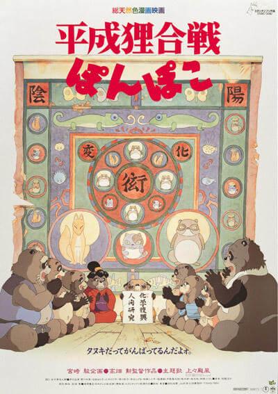 10位:平成狸合戦ぽんぽこ (1994) 興行収入44.7億円